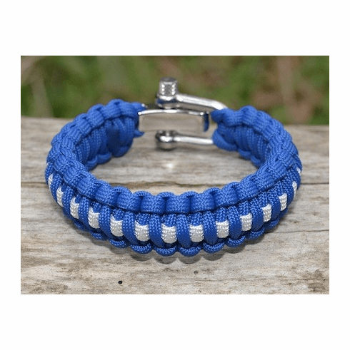 Paracord Survival Bracelet  Adjustable Metal Clasp (EMS)