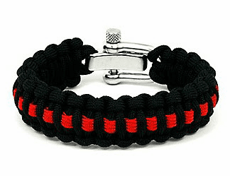 Paracord Survival Bracelet Adjustable Metal Clasp (Firefighter)