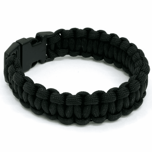 Paracord Survival Bracelet (Black)