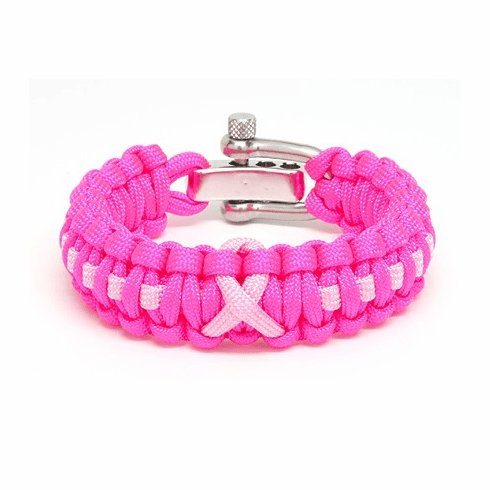 Paracord Survival Bracelet Pink (Pink Ribbon)