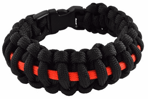 Paracord Survival Bracelet (Thin Red Line) Firefighter