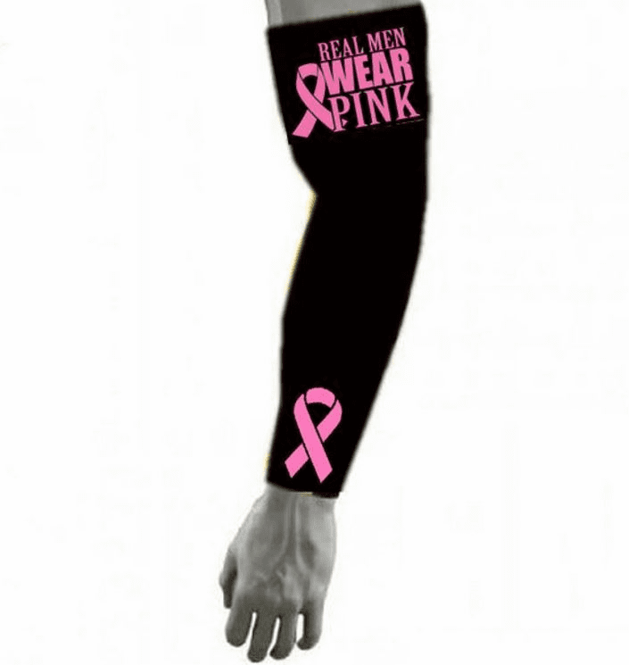 Pink Ribbon Sports Compression Arm Sleeve - Real Men Wear Pink