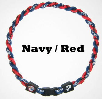 Power Twister Titanium Sports Necklace (Red/Navy)