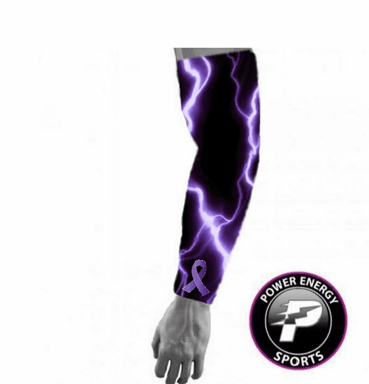 Purple Ribbon Relay For Life Compression Arm Sleeve