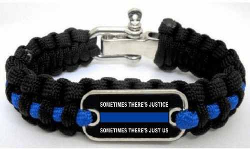 Sometimes There's Justice Sometimes There's Just Us Paracord Survival Bracelet