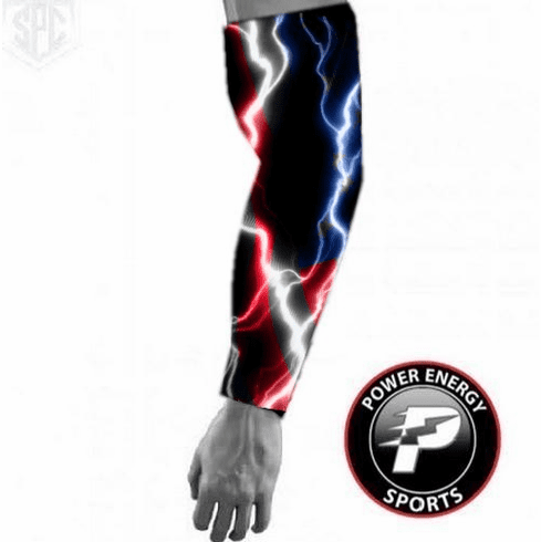 Sports Compression Arm Sleeve USA Patriotic Lightning