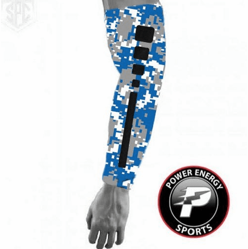 Sports Titanium Compression Baseball Arm Sleeve (Elite Royal Digital Camo)