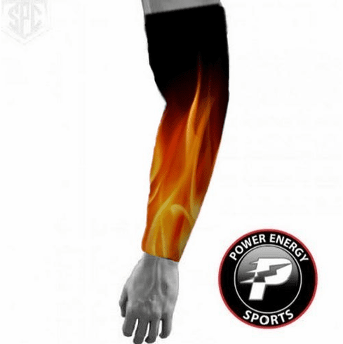 Sports Titanium Compression Baseball Arm Sleeve (Flames)