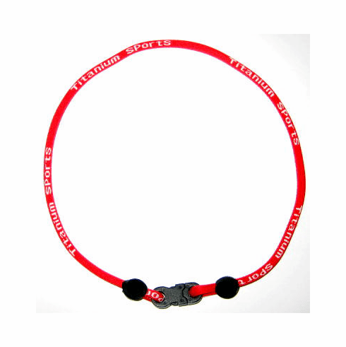 Titanium Sports Single Rope Necklace (Red)