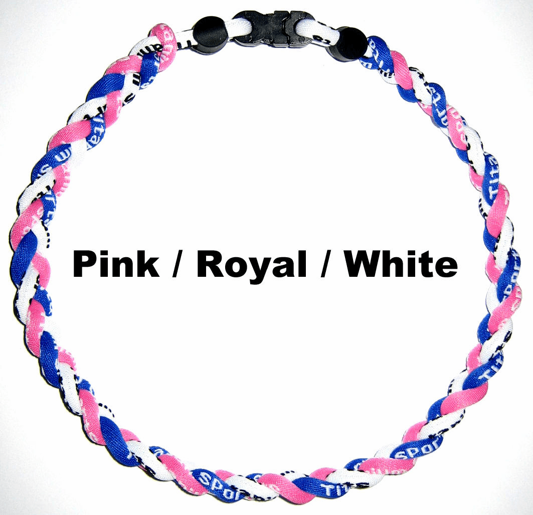 Tornado Titanium Necklace (Pink / Blue / Whie) CLEARANCE