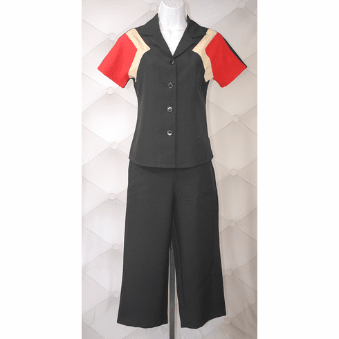 1940s Reproduction Culottes - Black