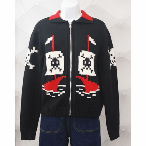 AHOY 1950's Pirate and Skulls Sweater