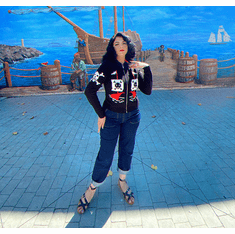 AHOY 1950's Pirate and Skulls Sweater-10032