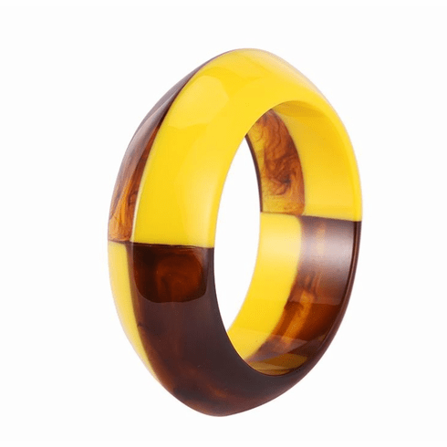 Audrey Marigold and Tortoise Rounded Cuff