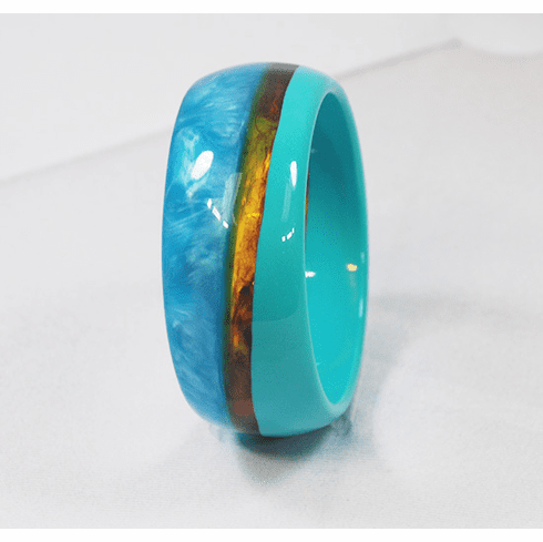 Audrey Turquoise and Tortoise Cuff