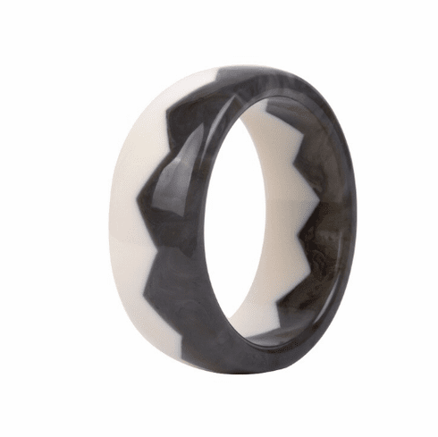 Audrey White and Tortoise Sawtooth Cuff