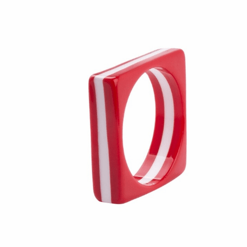 Circus Red and White Stripe Square Spacer