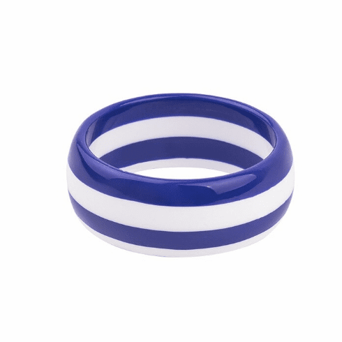 Circus Royal Blue and White Stripe Cuff