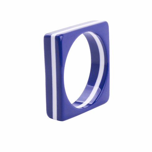 Circus Royal Blue and White Stripe Square Spacer