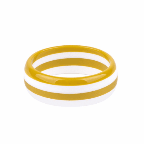 Circus Yellow and White Stripe Cuff