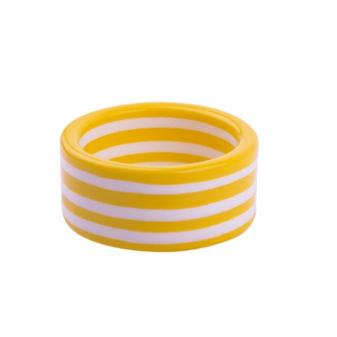 Circus Yellow and White Super Stripe Cuff