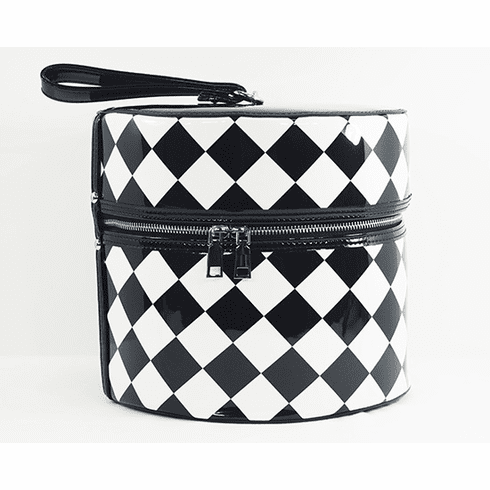Hat Box - Checkerboard