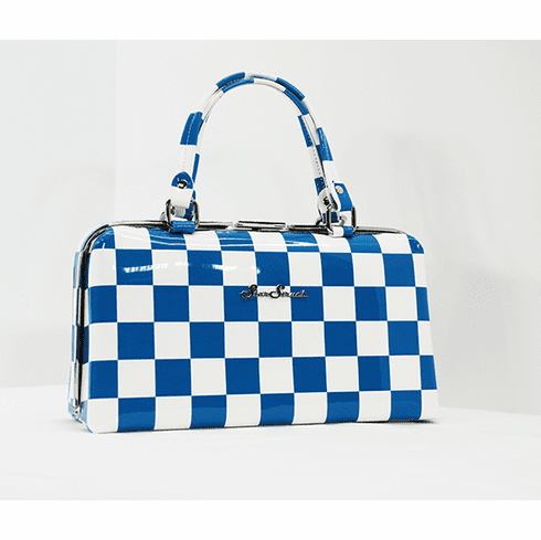 Jetson-Blue and White Checkerboard
