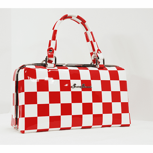 Jetson-Red and White Checkerboard