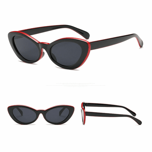 Sunglasses - Black and Red Cateye