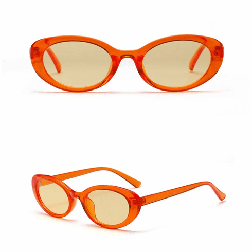 Sunglasses - Orange Oval