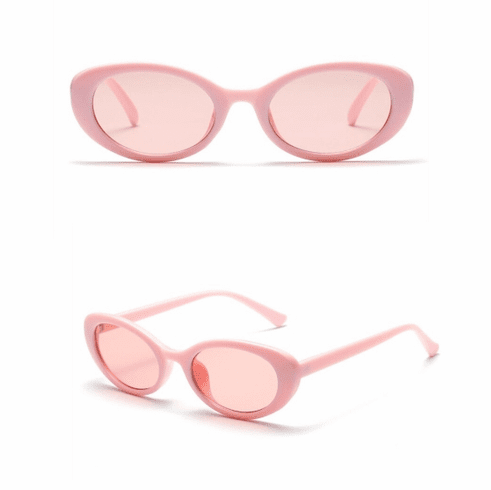 Sunglasses - Solid Pink Oval