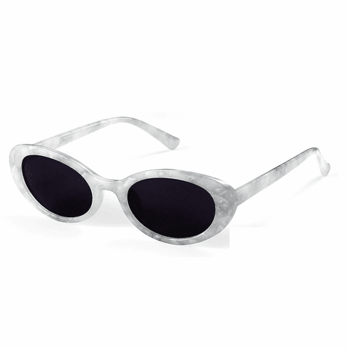 Sunglasses - White Marble Oval