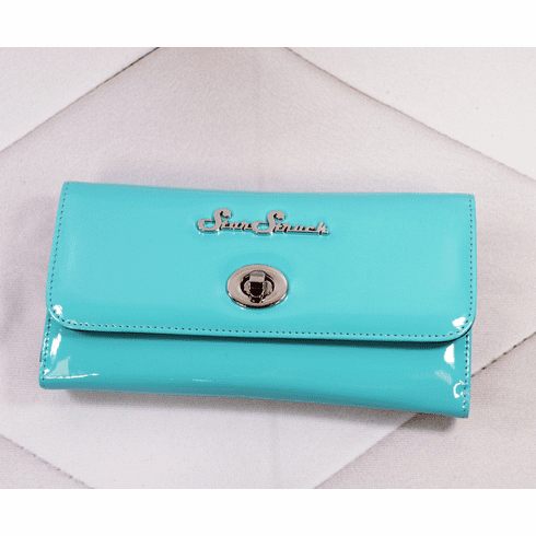 Tri-Fold Wallet - Retro Blue