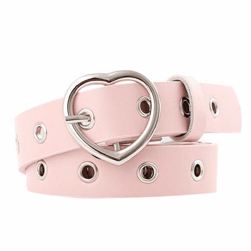 Vintage Inspired Heart Shaped Belt - Pink