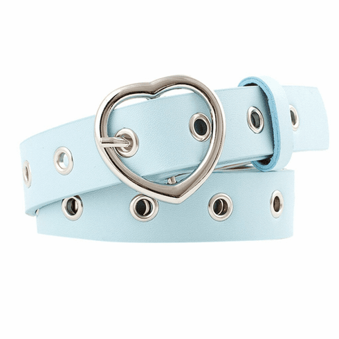 Vintage Inspired Heart Shaped Belt - Retro Blue