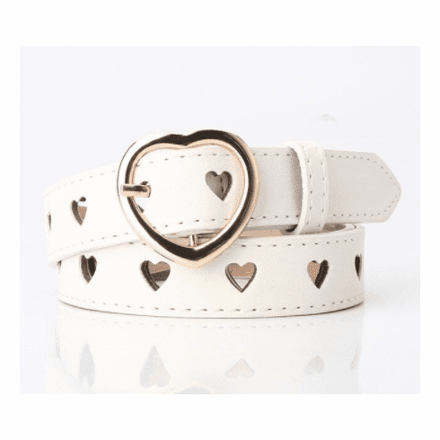 Vintage Inspired Love Belt - White