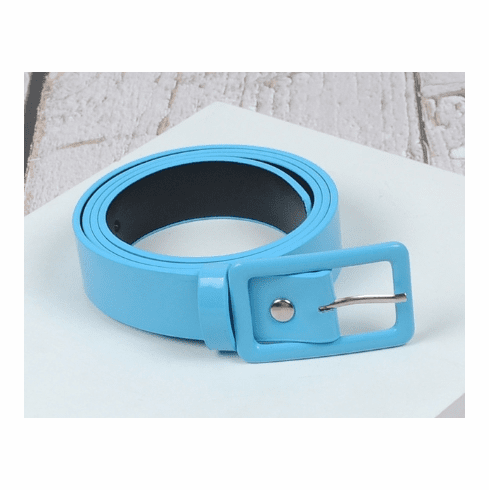 Vintage Inspired Square Shaped Belt - Retro Blue