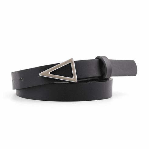 Western Vintage Inspired Triangle Shaped Belt - Black
