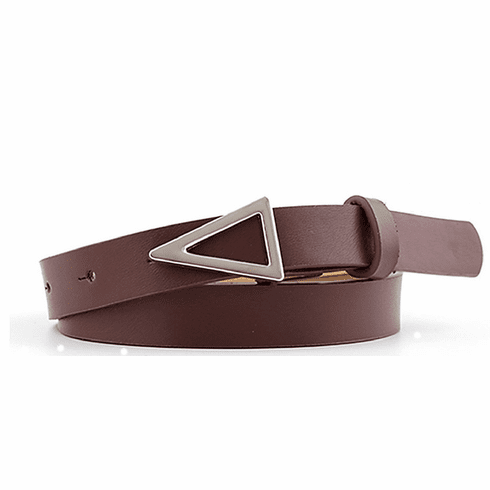Western Vintage Inspired Triangle Shaped Belt - Dark Brown