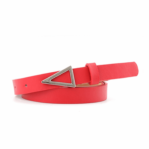 Western Vintage Inspired Triangle Shaped Belt - Red