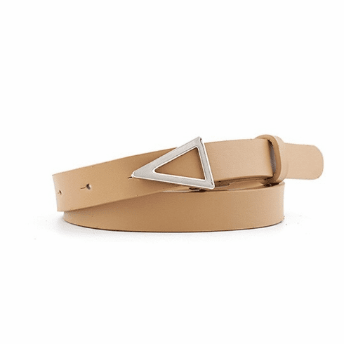 Western Vintage Inspired Triangle Shaped Belt - Tan