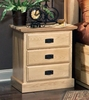 A-America - Amish Highlands 3 Drawer Nightstand - AHINT5750