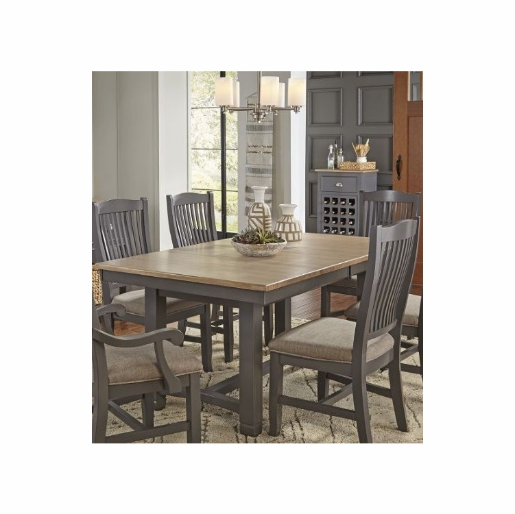 A America Port Townsend 68 88 Trestle Table With Leaf Potsp6310