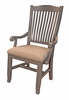 A-America - Port Townsend Slatback Arm Chair with Upholstered Seating (Set of 2) - POTSP246K