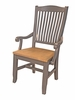 A-America - Port Townsend Slatback Arm Chair with Wood Seating (Set of 2) - POTSP266K