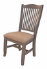 A-America - Port Townsend Slatback Side Chair with Upholstered Seating (Set of 2) - POTSP245K