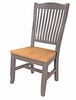 A-America - Port Townsend Slatback Side Chair with Wood Seating (Set of 2) - POTSP265K