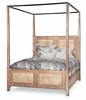 AICO by Michael Amini - Biscayne West King Canopy Bed in Sand
