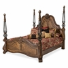 AICO by Michael Amini - Eden's Paradise King Poster Bedroom Set (6 pc) in Ginger