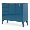 AICO by Michael Amini - Illusions Aqua Coral Cabinet - KIA-ILUSN-086
